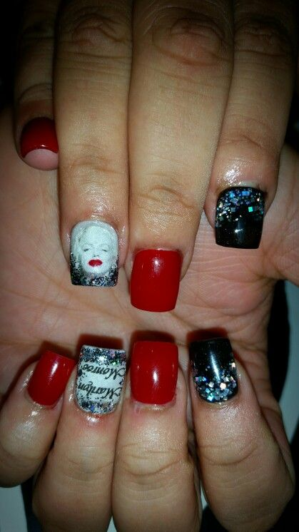 Marilyn Monroe nails | Flirtatious Nails | Pinterest