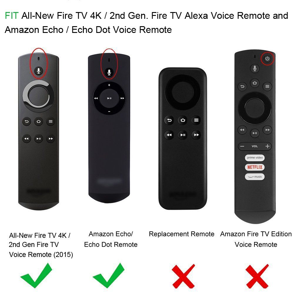 Fintie Silicone Case For Allnew Fire Tv 4k 2nd Gen Fire Tv Stick Voice Remote Compatible With Amazon Echo Echo Fire Tv Stick Amazon Fire Stick Alexa Voice