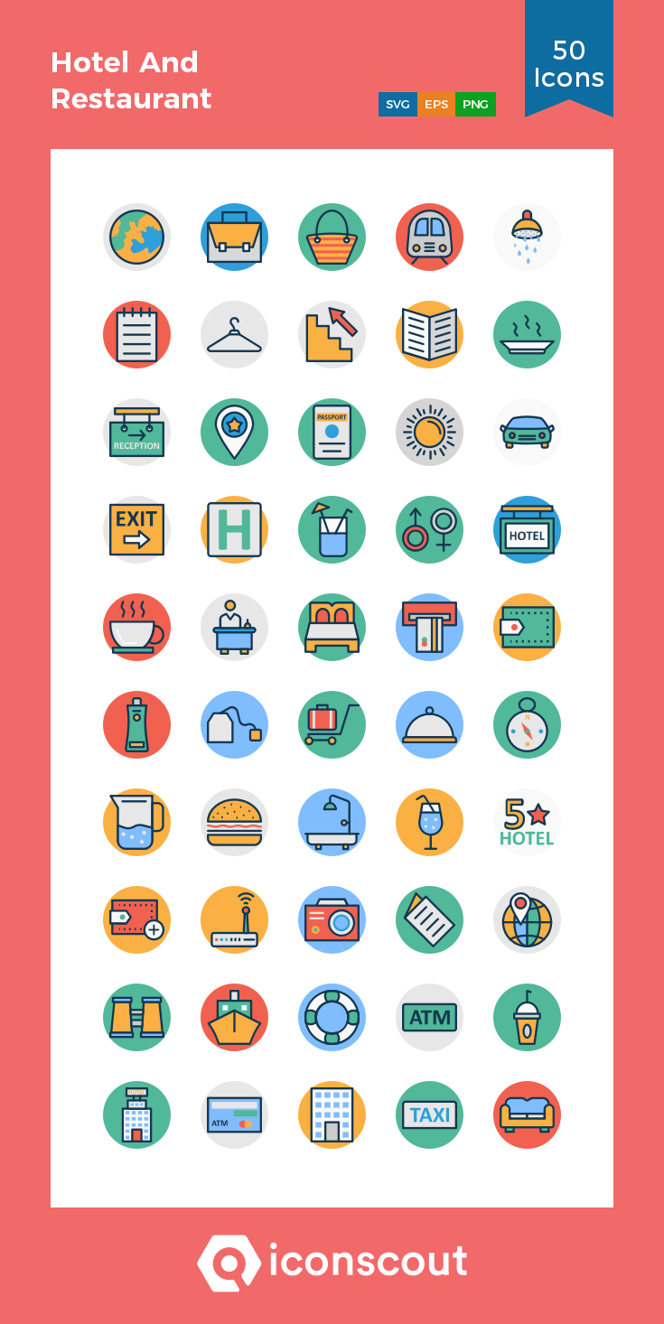 Download Hotel And Restaurant Icon Pack Available In Svg Png Eps Ai Icon Fonts Restaurant Icon Icon Icon Pack