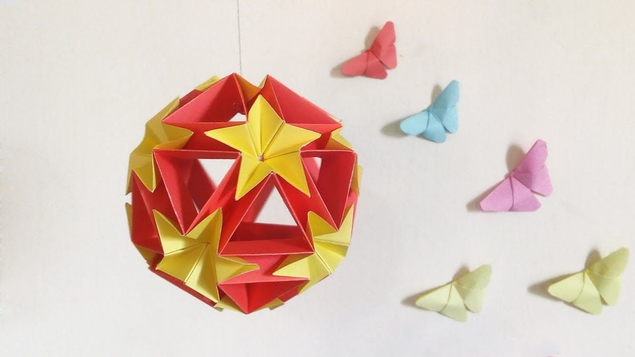 Paper Ball How To Make A Origami Kusudama Flower Ball Diy Home