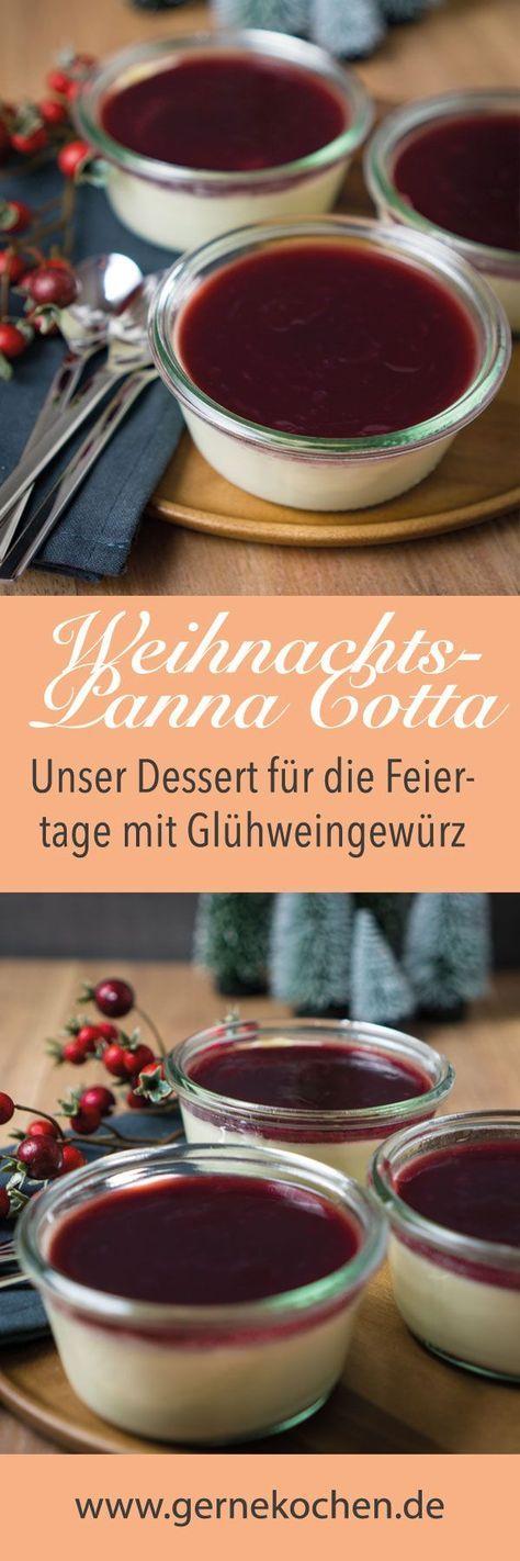 Weihnachts Panna Cotta mit Kirschsauce #desserts