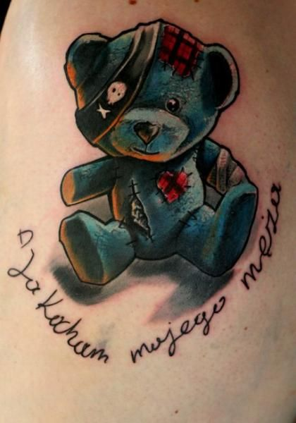 Fantasy Bear Tattoo by Speak In Color