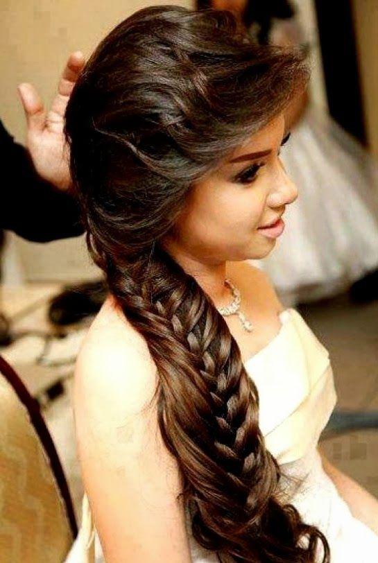 Simple Hair Style Girl For Wedding Simple Hair Style