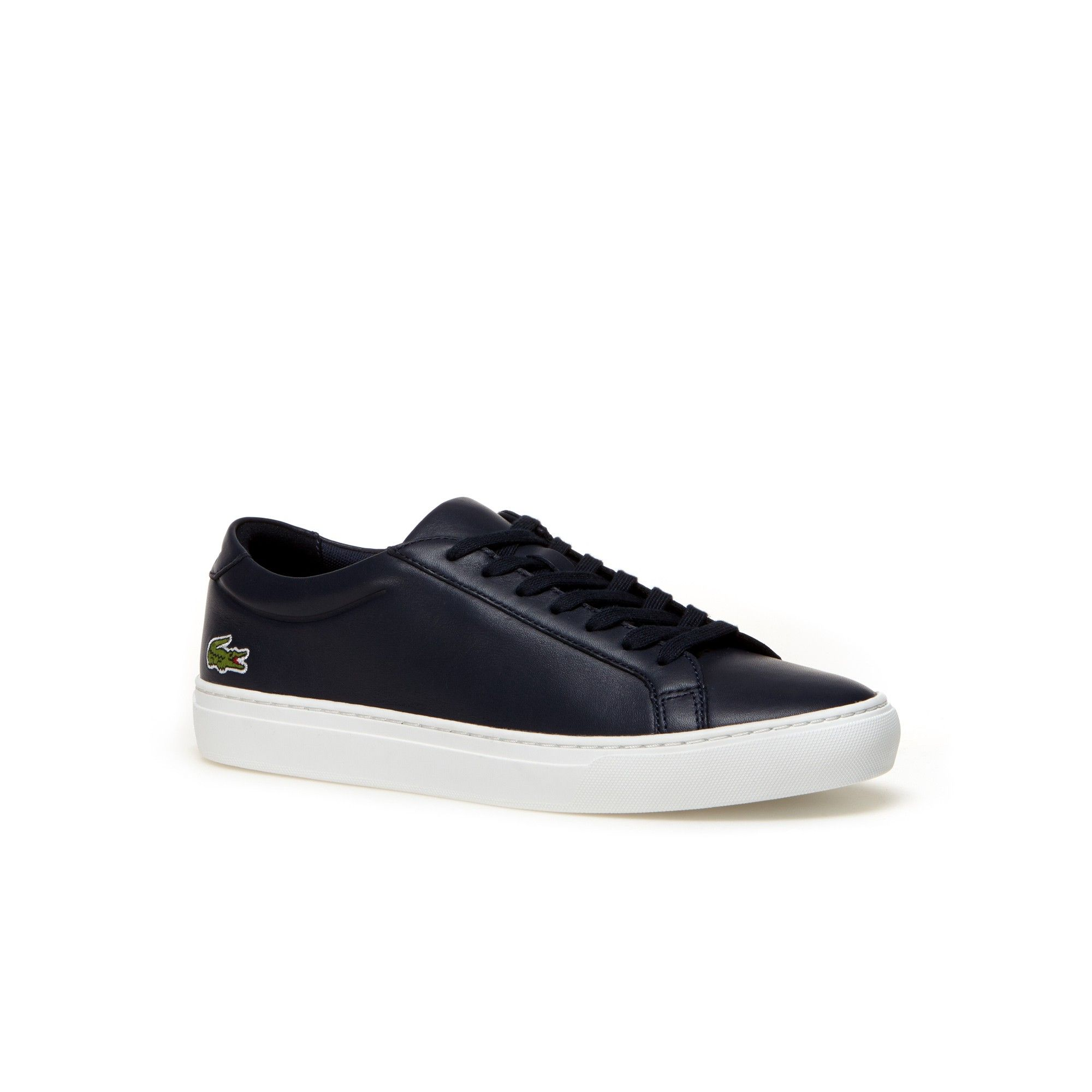a383add0ce915f LACOSTE Men s L.12.12 Premium Leather Sneakers - navy.  lacoste  shoes