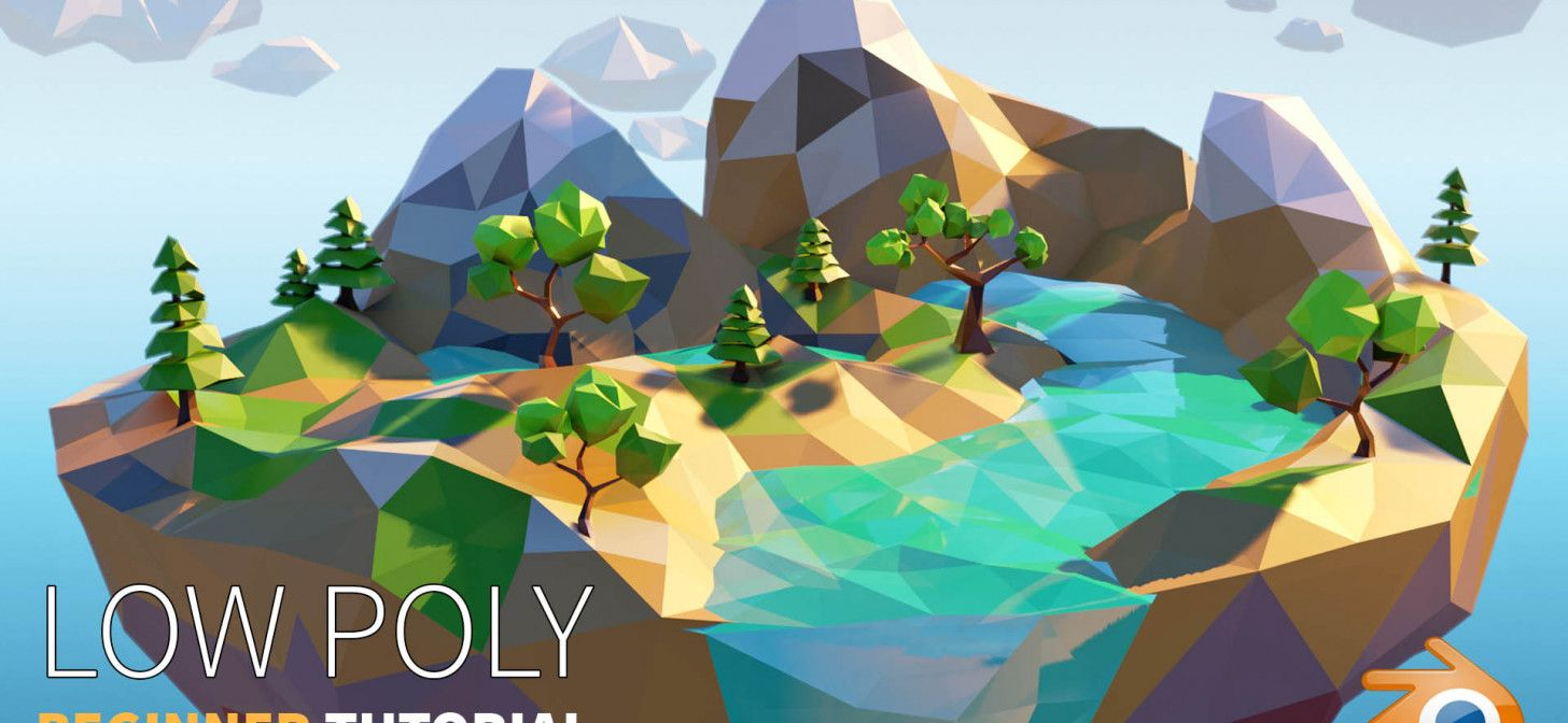 Low poly island beginner blender 28 tutorial with
