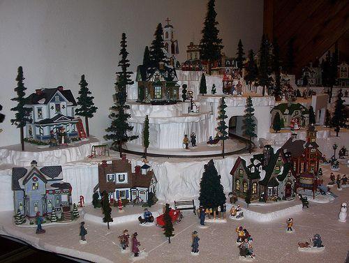 Christmas Village Display Platforms.Dyi Christmas Village Display Platforms Navidad