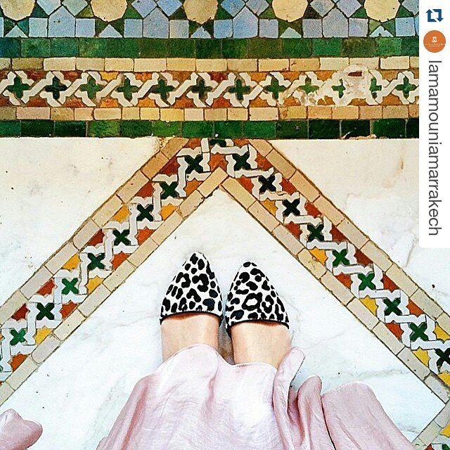 What's more breathtaking.. the floors or the sky? #morocco @lamamouniamarrakech ・・・ #fashion #travel #ihavethisthingwithfloors #marrakech #lamamounia