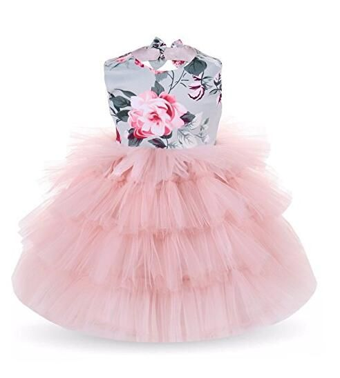 165bab973f59 Mikrdoo Baby Girl Floral Sleeveless Dress Layers Tutu Lace Dress Flower Girl  Rustic Dress for 0-5 Years