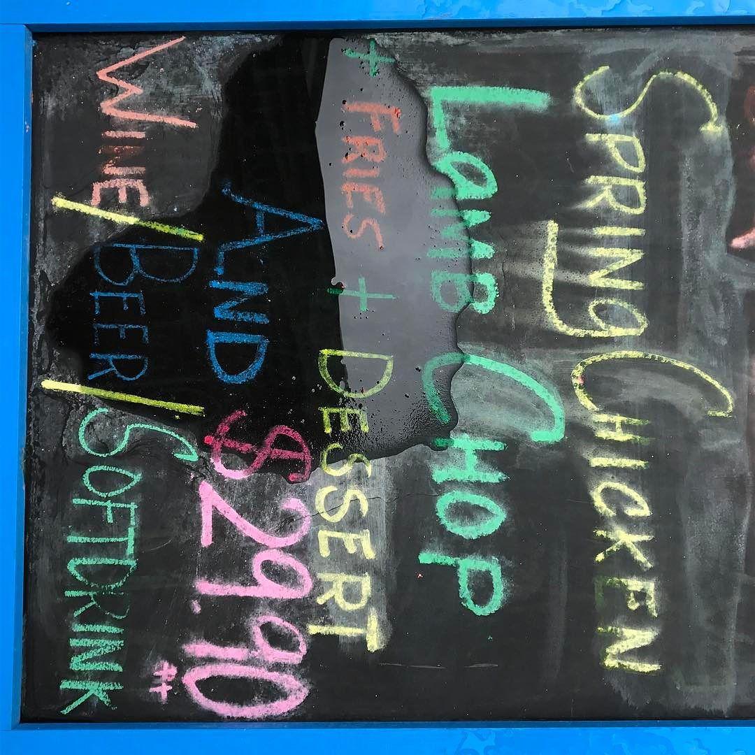 Fallen #menu #chalkboard #design