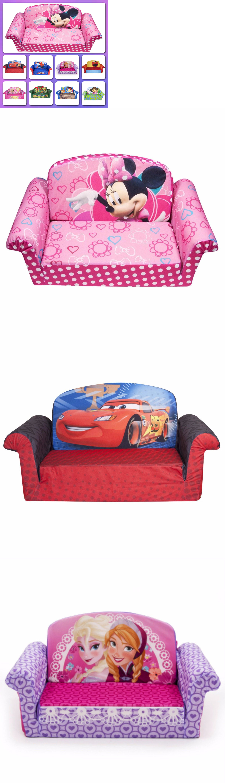 Kids Furniture: Flip Sofa Bed Toddler Lounger Chair Sized Seat Furniture  Soft Plush Foam Kids