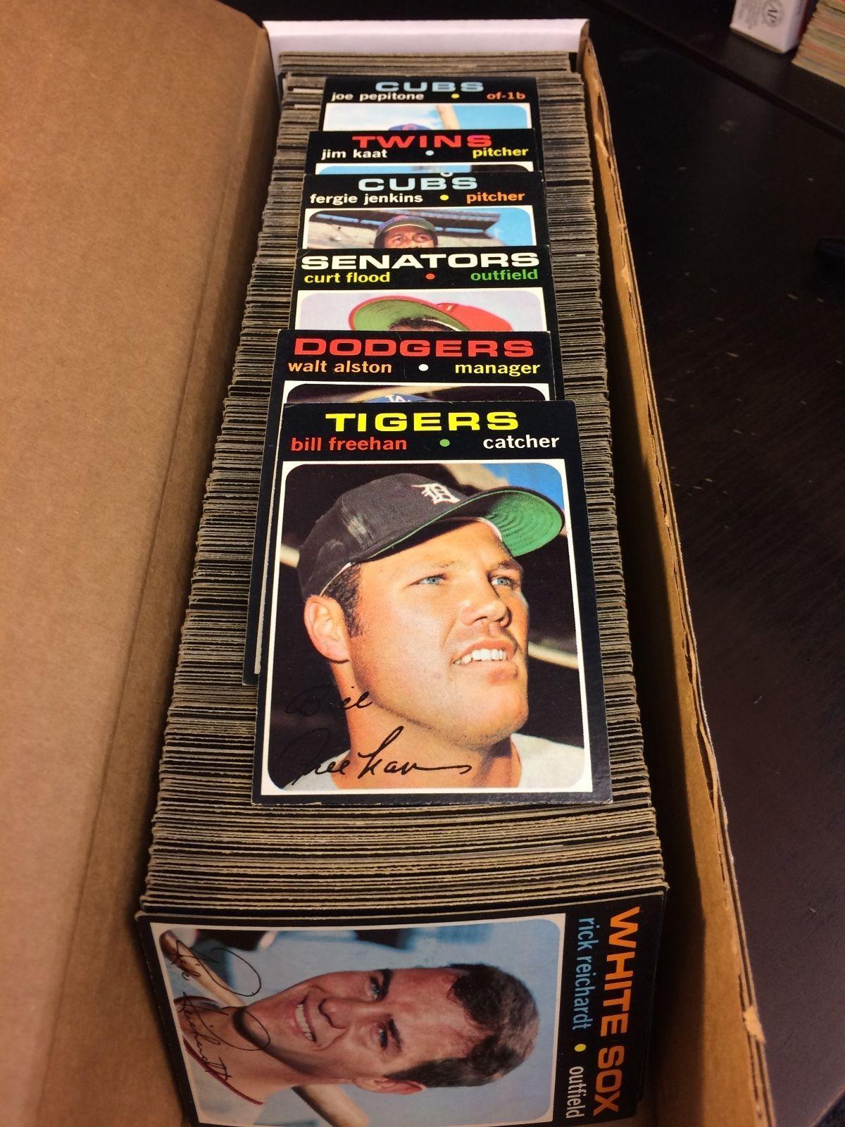 1971 topps baseball high grade set 541752 exmtex stars