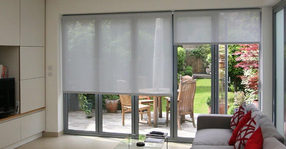 French Door Roller Shades Blinds For French Doors