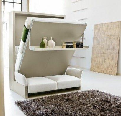 klappbetten-schrankbett-in-weiß-mit-offenem-regal | Wohn Ideen ...