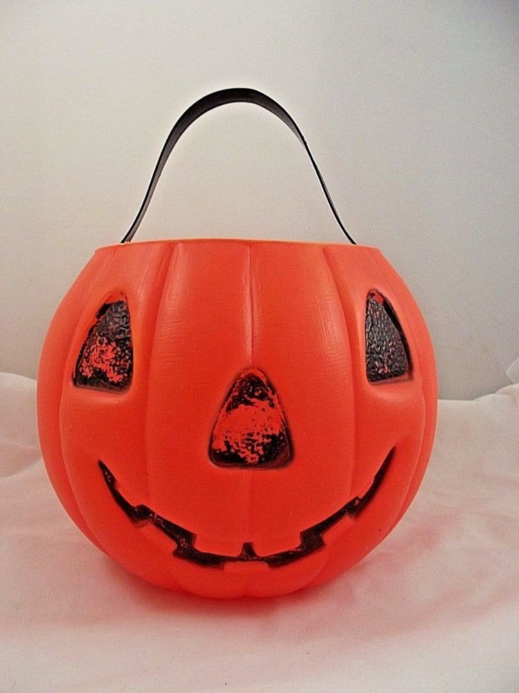 Details about AJ Renzi Pumpkin Vintage Halloween Blow Mold Candy