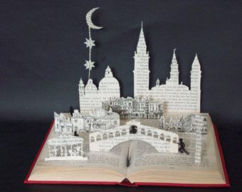 Book Sculpture Book Art Altered Book House by MalenaValcarcel