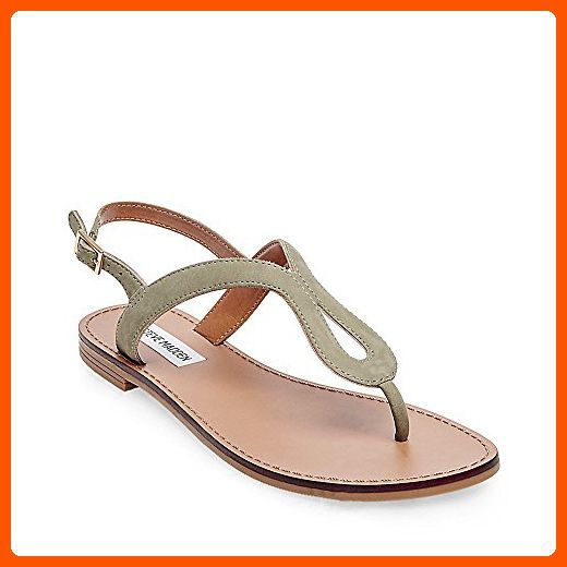 Takeaway Flat Sandal, Olive Nubuck
