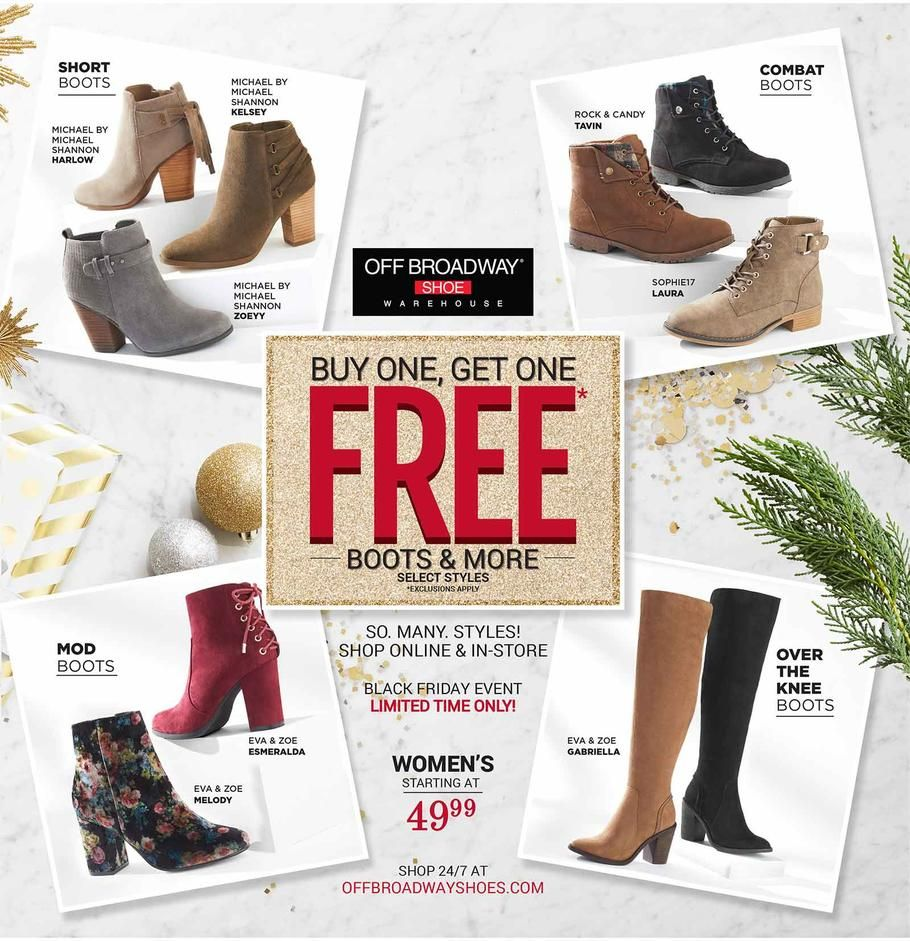 Off Broadway Shoes Black Friday 2017 Ad