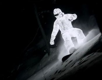 John Spatcher made a LED suit, William Hughes did the boarding & Jacob Sutton made a beautiful surreal film out of it. Wow.