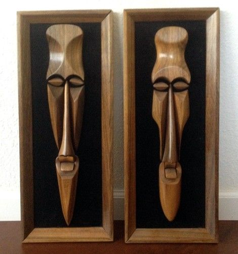 African Tribal Wall Art Wood Masks Framed Set Of 2 Modernist Wood Wall Art Frame Set Wall Art
