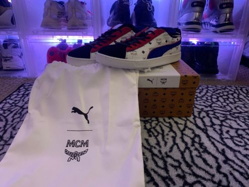 4a9bb10828d PUMA X MCM Classic Limited Edition Red White Blue Black Sneakers US 8.5  EURO 41