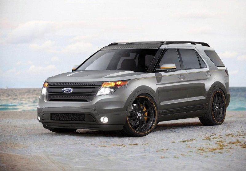 Sterling Grey Explorer, I want my grill painted black like this, but not those wheels....