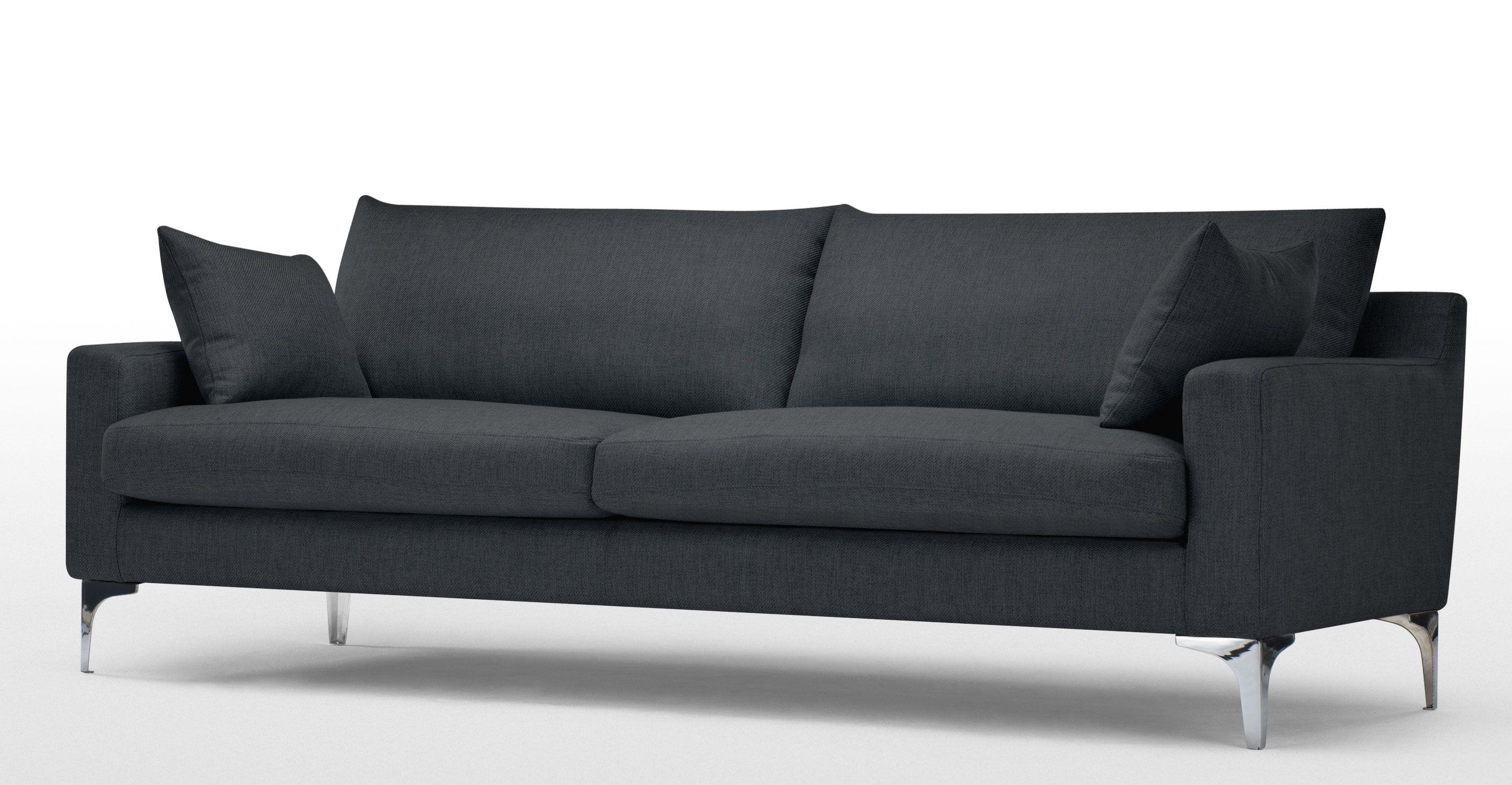 mendini, un canapé 3 places, gris anthracite en 2018   canapé