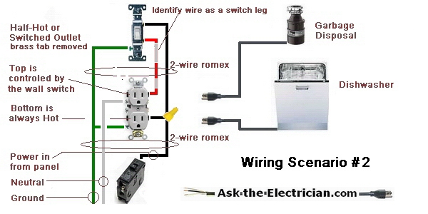 How To Wire A Garbage Disposal Google Search Electrical Wiring Wiring A Plug Outlet Wiring
