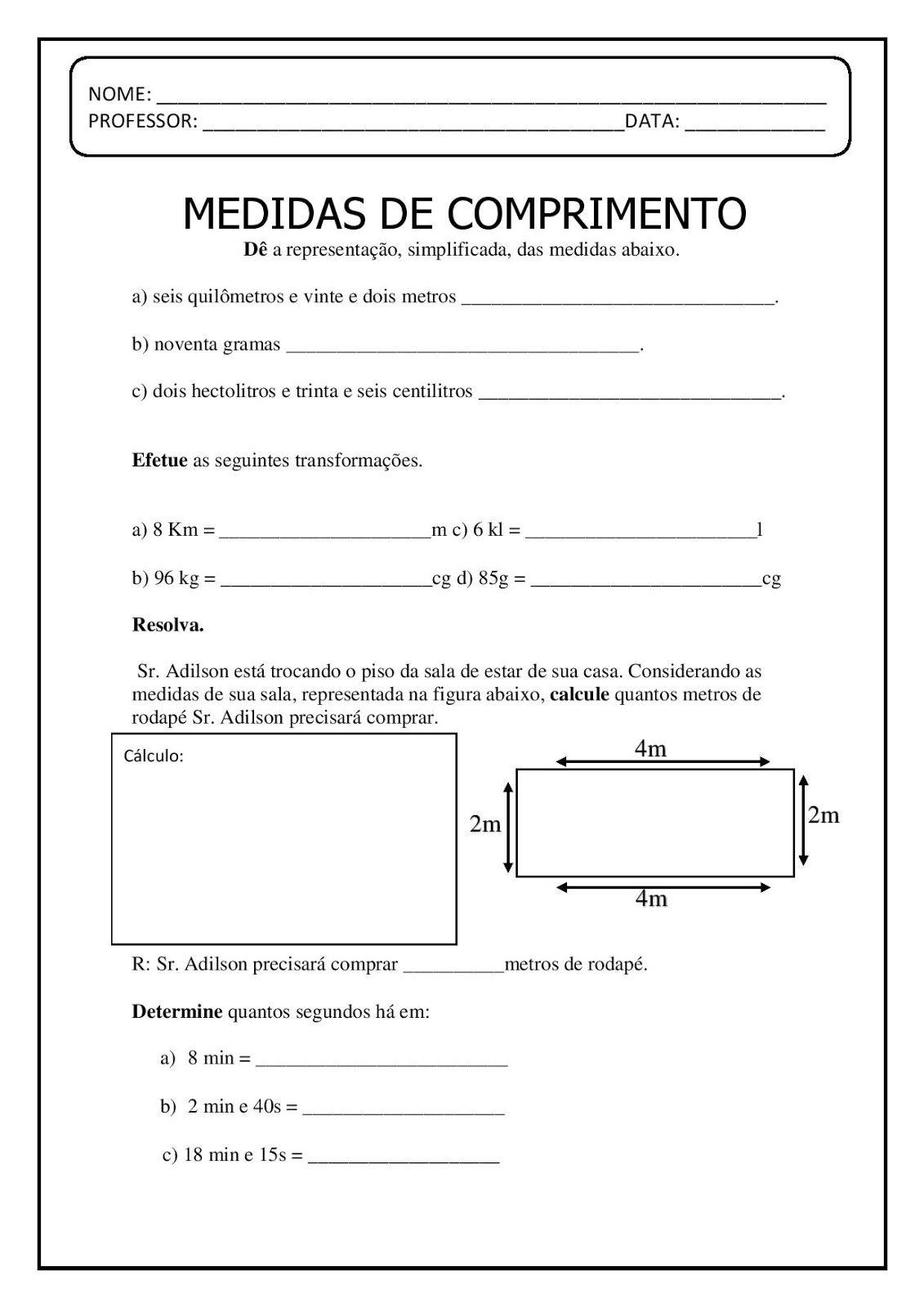Medidas De Comprimento Page 002 Jpg 1131 1600 Medida De