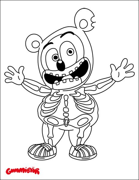 Download A Free Gummibär Halloween Coloring Page   Http://www.thegummybear.