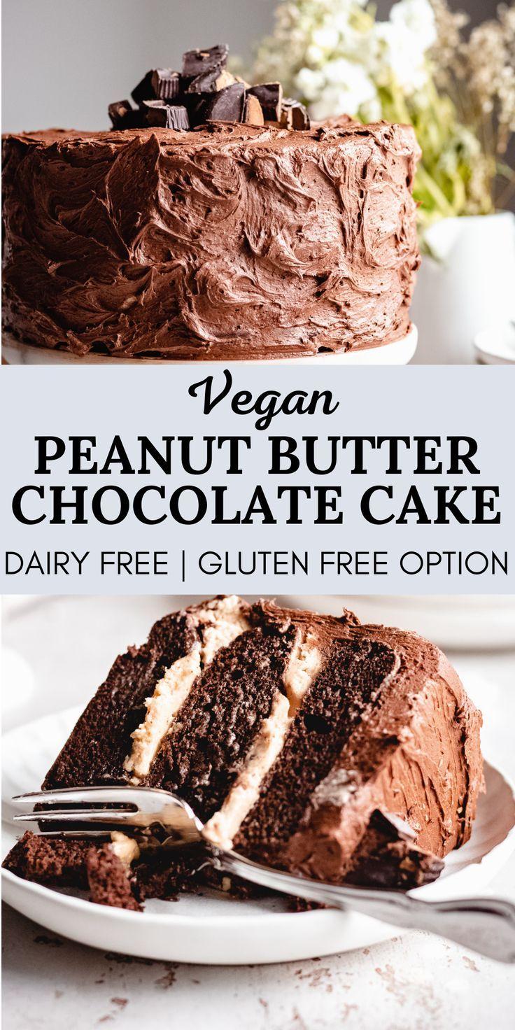 Vegan Chocolate Peanut Butter Cake The Banana Diaries Recipe In 2020 Vegan Desserts Vegan Chocolate Cake Vegan Sweets