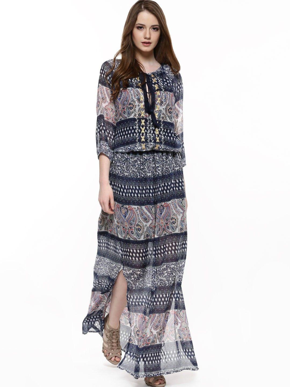 Buy RENA LOVE Festival Print Maxi Dress For Women - Women's Multi ...
