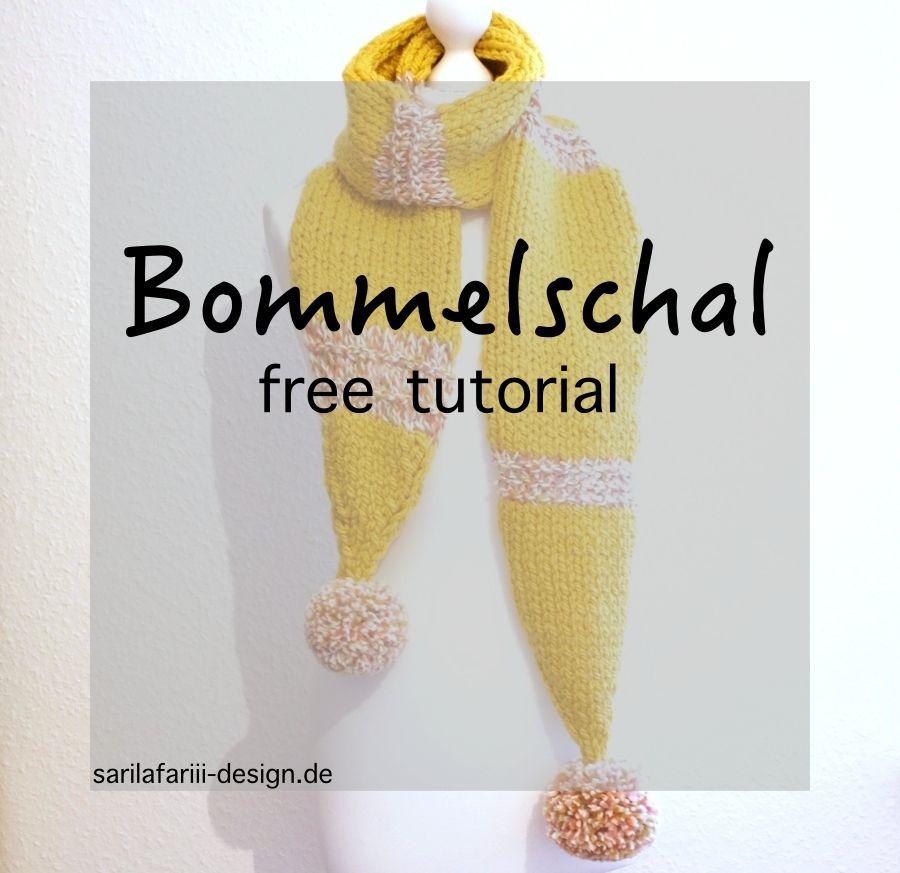 Schal mit Bommeln. Kostenlose Anleitung.   Stricken   Pinterest ...