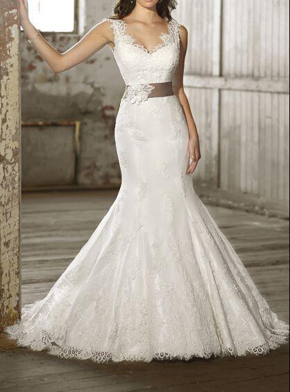 2015 weiße Nixe-Spitze-Hochzeits-Kleider von CustomWeddingDress auf ...