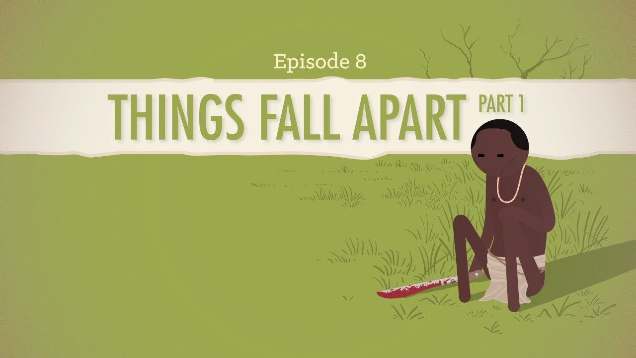things fall apart part explained by john green and crash  things fall apart part 1 explained by john green and crash course