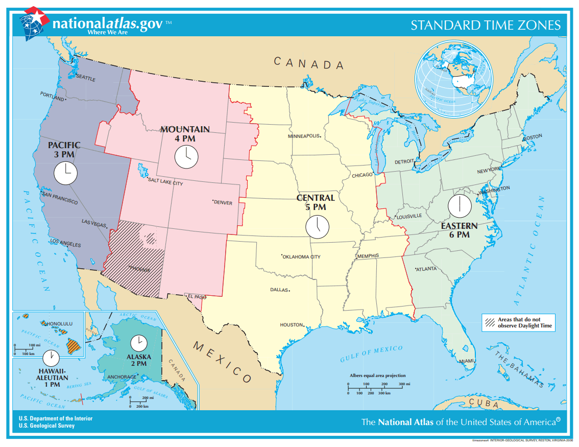 United States Time Zones Map Quiz - Play online for free. No ...