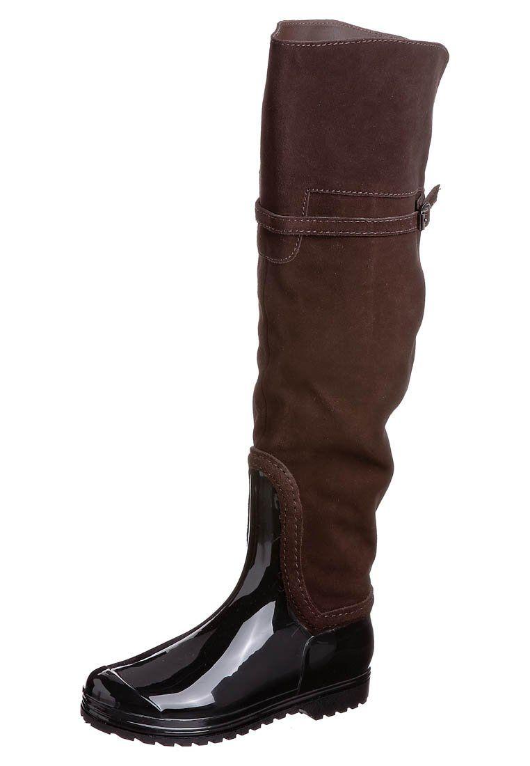 fbb5ebfd832 thigh boots   Buffalo Thigh high Boots - brown - Zalando.co.uk ...