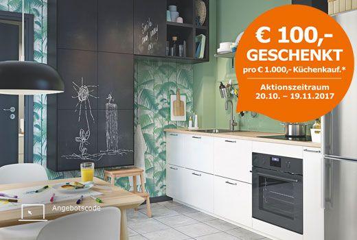 IKEA Küchen Aktion EUR 100,-- geschenkt Küchen Pinterest - küche landhausstil ikea