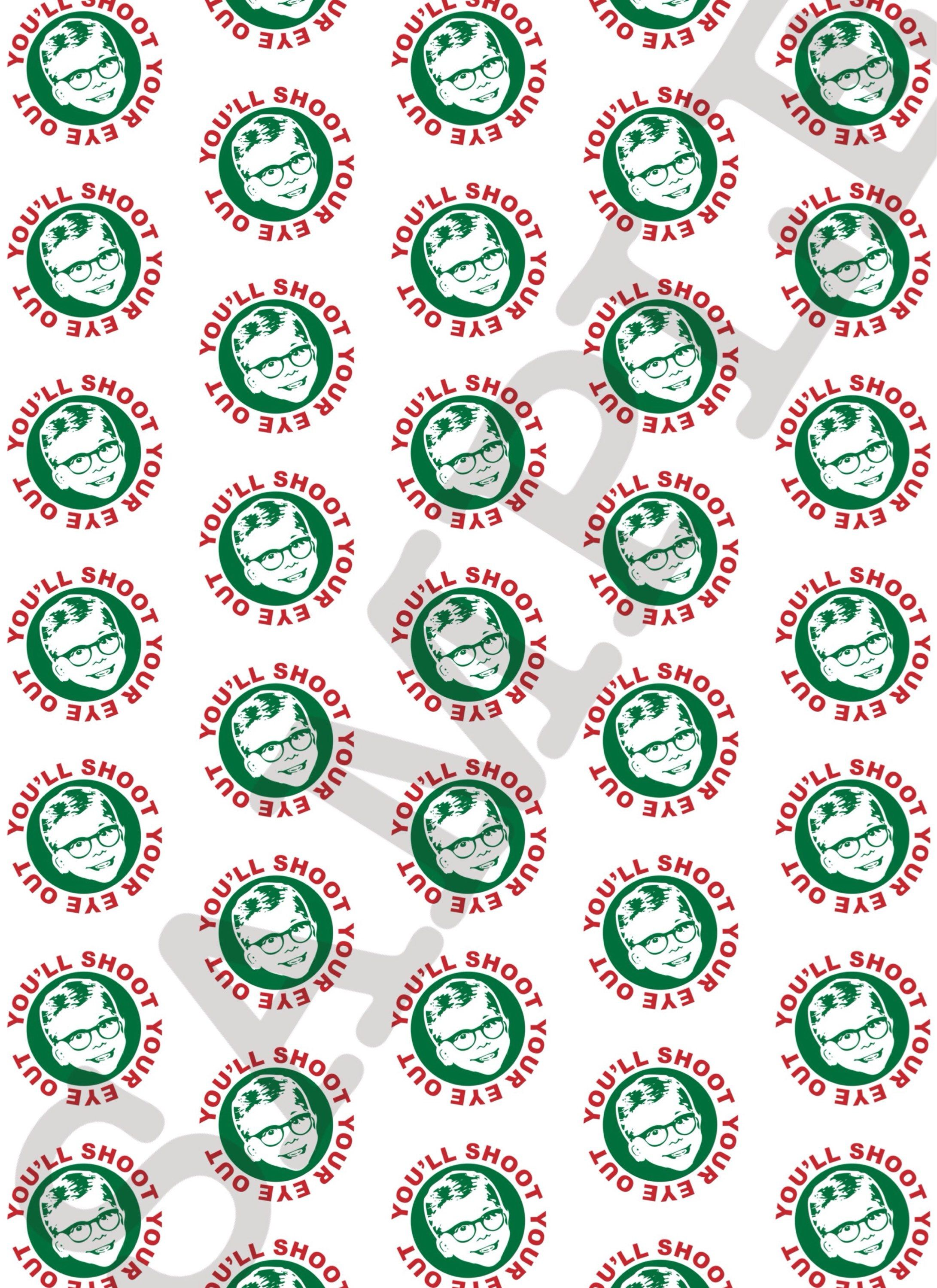 christmas printable wrapping paper a christmas story gift wrap