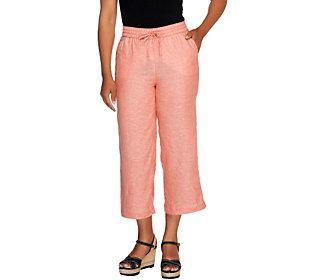 Liz Claiborne New York Petite_Jackie Cropped Linen Linen Pants