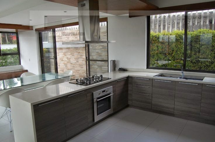Dise o de cocinas angulares en forma de l ideal para for Disenos de cocinas en l