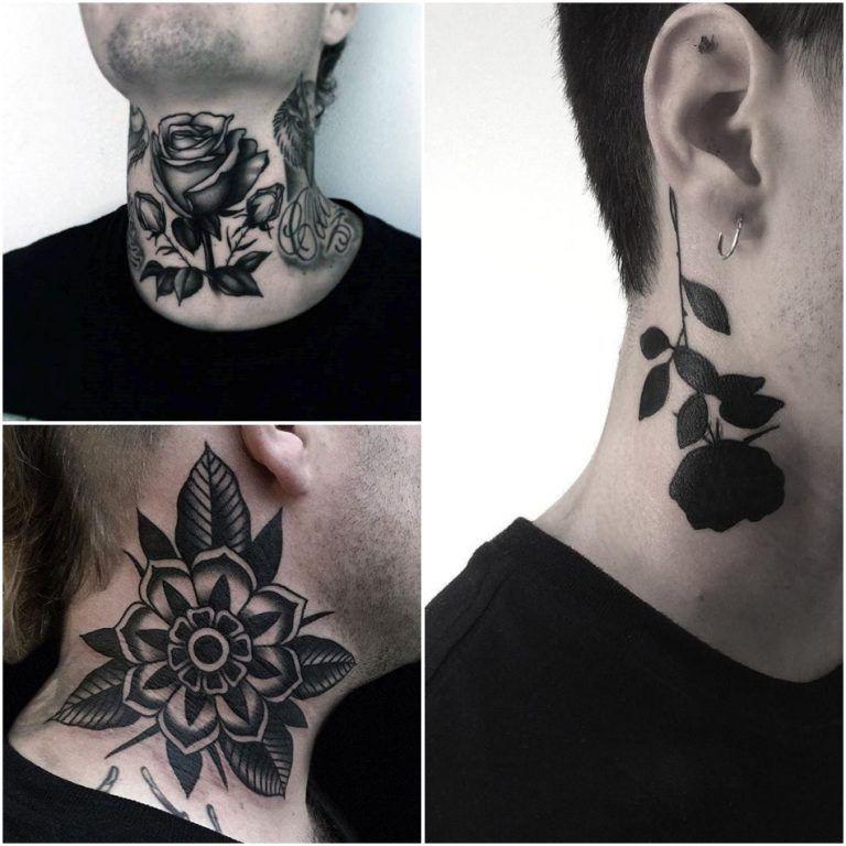 Best Neck Tattoo Ideas For Men Positivefox Com Rose Neck Tattoo Best Neck Tattoos Flower Neck Tattoo
