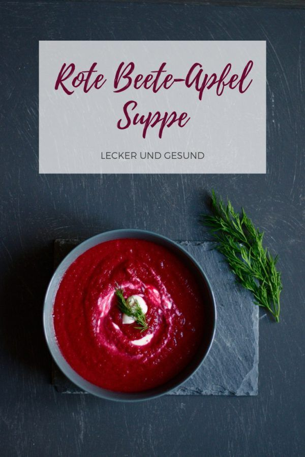 Rote Beete-Apfel Suppe