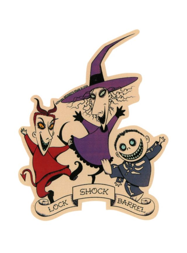 Die cut sticker from the nightmare before christmas with a for Lock shock and barrel coloring pages