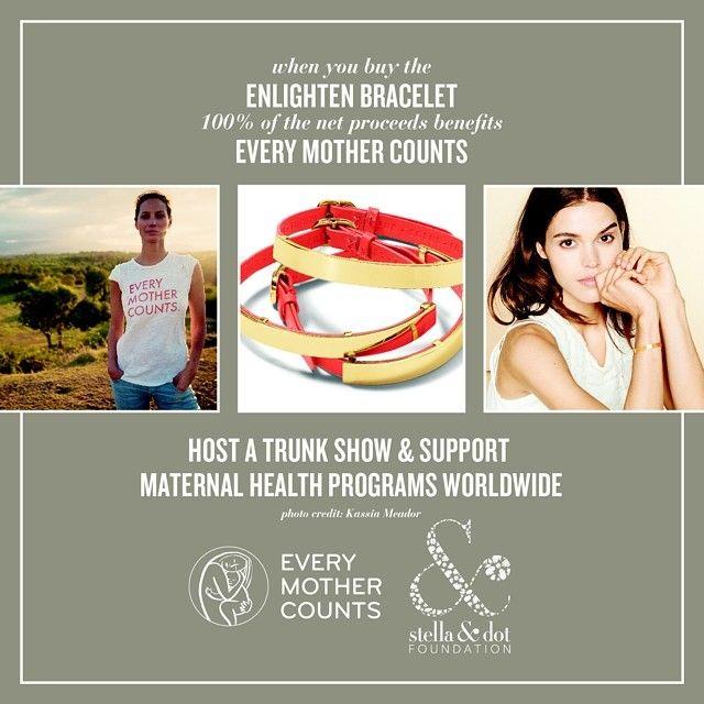 When you buy the ENLIGHTEN BRACELET 100% of the net proceeds benefits EVERY MOTHER COUNTS - SUPPORT MATERNAL HEALTH PROGRAMS WORLDWIDE