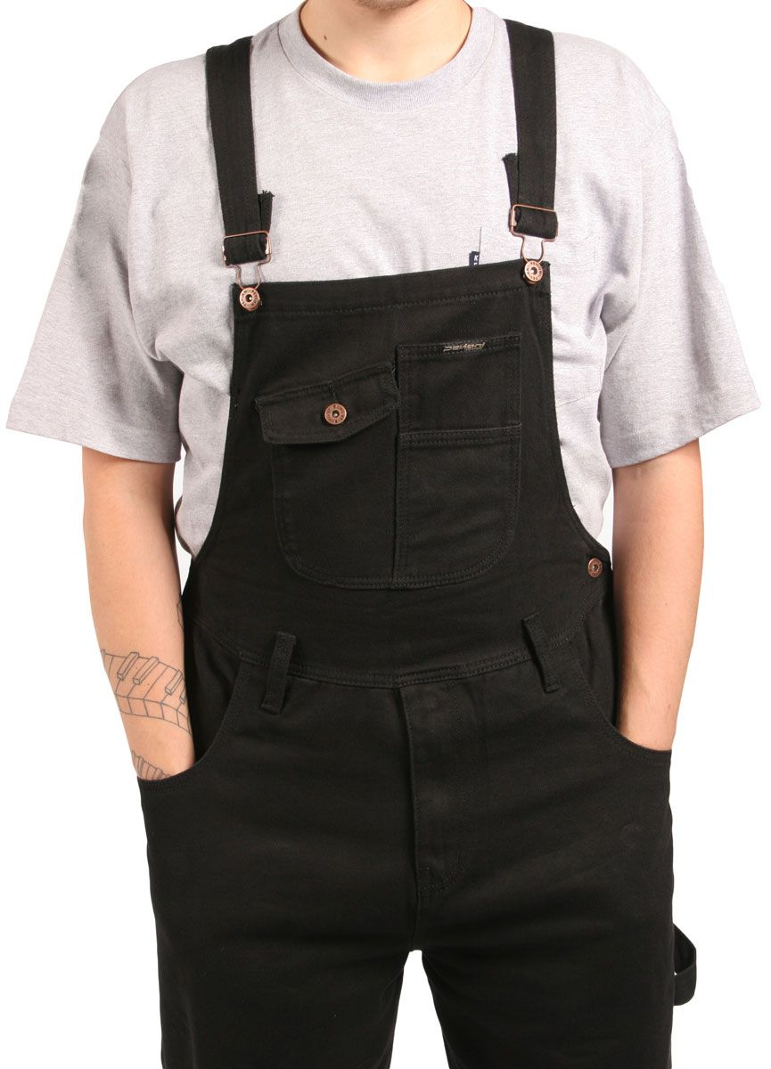 numerous in variety modern design newest selection Loose fitting black #dungarees from Peviani London. Bib ...