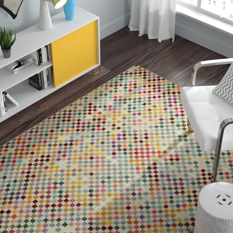 Turn On The Brights Annmarie Yellow Green Blue Area Rug Reviews Wayfair Area Rugs Geometric Rug Yellow Area Rugs