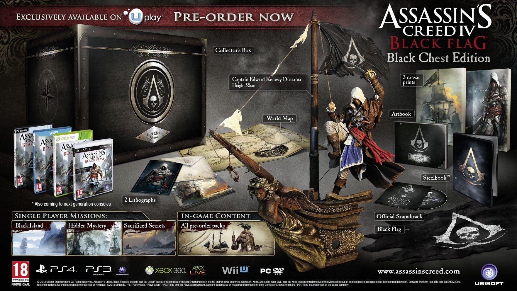Ps4 Assassin S Creed 4 Black Flag Black Chest Edition Bundle