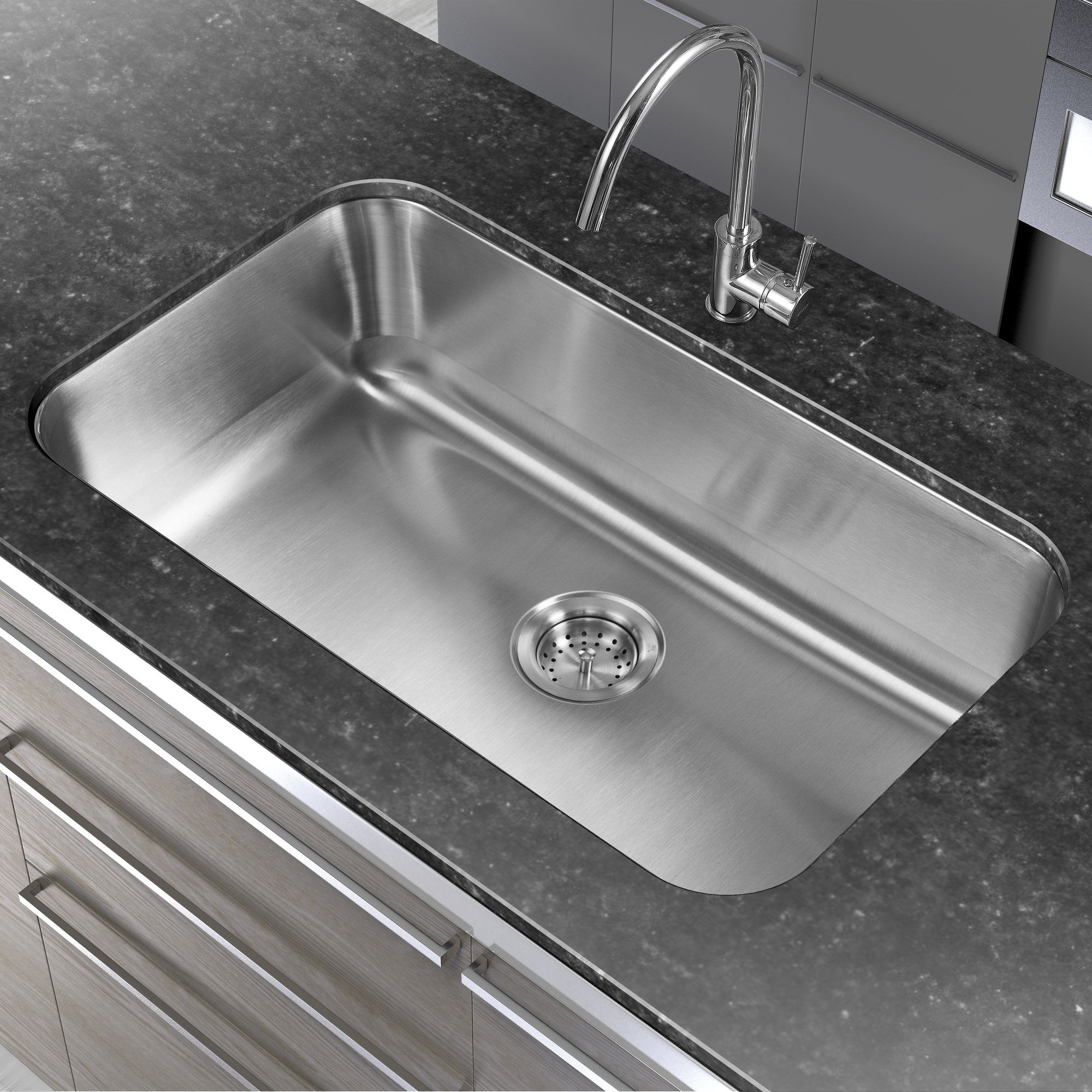 30 L X 18 W Single Basin Undermount Kitchen Sink Products