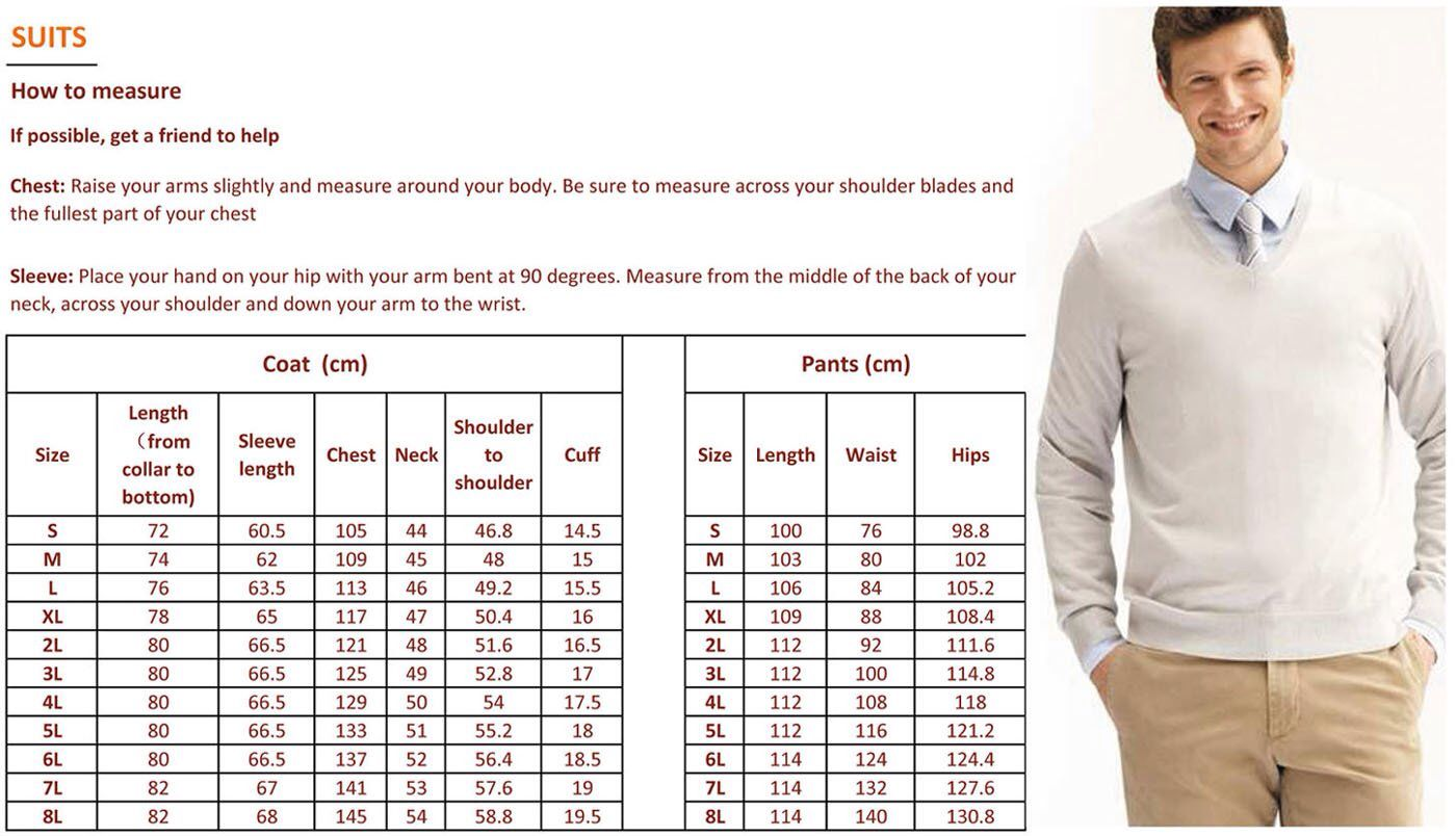 Suit Measurement Chart Home Tips Tricks And Information Charts