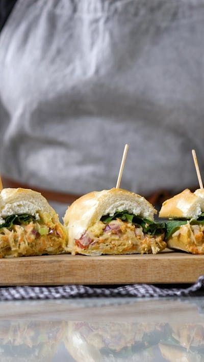 Sandwich de Pollo Desmenuzado ~ Receta